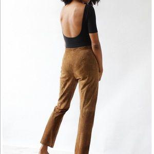 Lauren Ralph Lauren Suede Leather Tan Pants